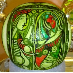 Picasso auf Melonen - Eat Art mal anders