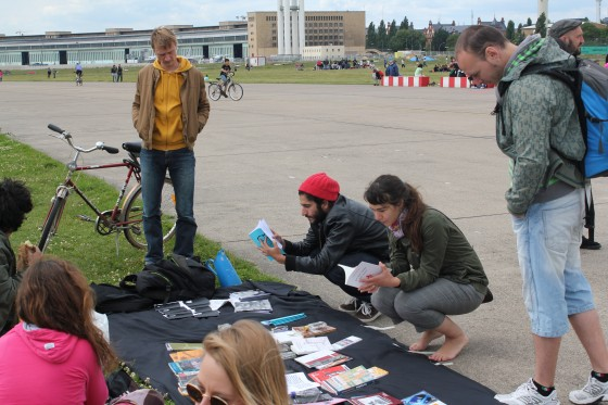Portable Book Fair Tempelhofer Flughafen